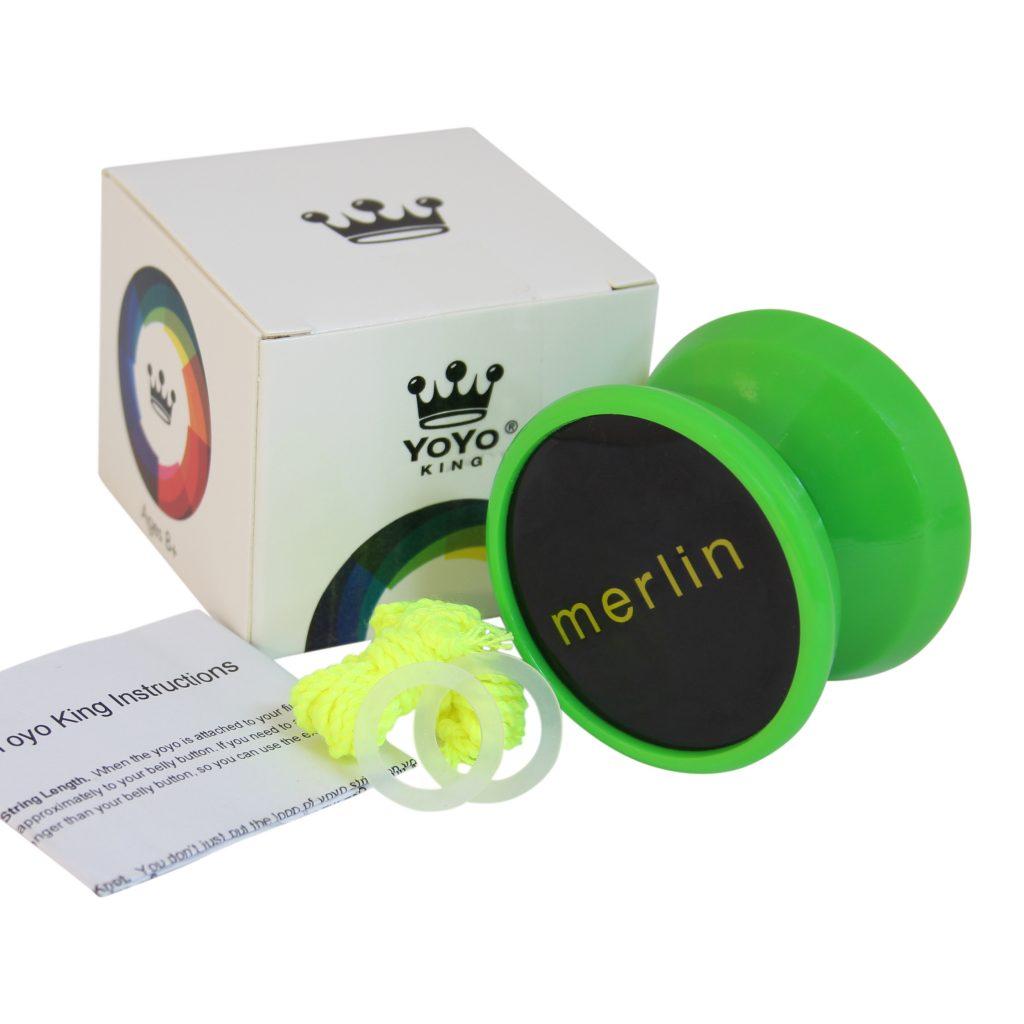Yoyo King Green Merlin Professional Responsive Yoyo with Narrow C Bearing